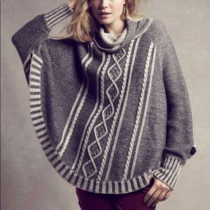 Anthropologie Yoon Delphine Poncho Sweater M/L